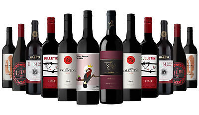OVER 900 SOLD! Bold Shiraz Red Wine Mixed 12x750ml RRP$249 Free Shipping