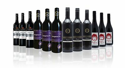 $99 Delivered Premium Red Wine Mixed 12x750ml Free Shipping RRP$299