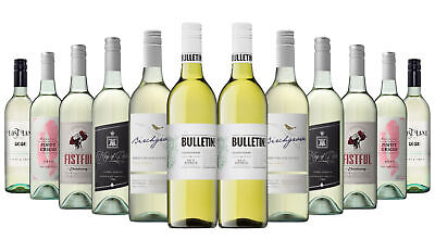 OVER 800 SOLD! Summer BBQ White Wine Mixed 12x750ml RRP$229 Free Shipping
