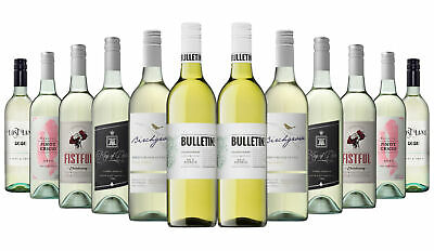 Over 1000 SOLD! White Wine Mixed ft Silkwood 12x750ml RRP$229 Free Shipping/Retu