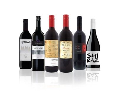 Australian Assorted Red Wine Mixed RRP$129 (6 x 750ml) Free Shipping