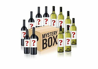 Australian Mystery Labelled White & Red Wine Mixed -12pack RRP$199 Free Shipping