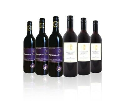 $65 Delivered Cab Sauv Red Wine Mixed 6x750ml RRP$199 Free Shipping