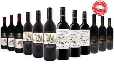 Red Wine Shiraz & Cab Sauv Mixed 12x750ml  Free Shipping RRP$259