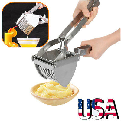 Puck Potato Ricer Masher Stainless Steel Fruit Juicer Vegetable Press Chopper US