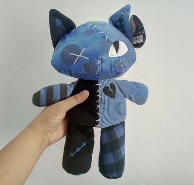 Emily the Strange Patchwork Miles Kitty stuffed plush toy new tag 12inches