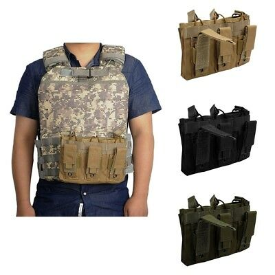 Tactical Military Triple Open Top Pistol Triple Package Molle Magazine Pouch Bag