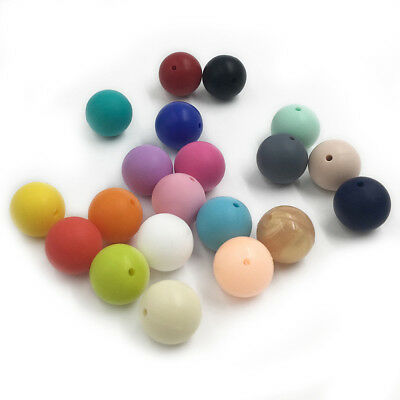 15 mm Silicone Teething loose Beads DIY Baby safe Chewable Jewelry Toy