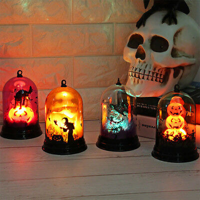 Halloween Vintage LED Light Witch Pumpkin Lamp Party Hanging Table Decoration