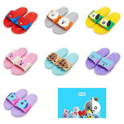 Official BT21 Character Slipper KPOP BTS TATA RJ CHIMMY COOKY SHOOKY KOYA MANG