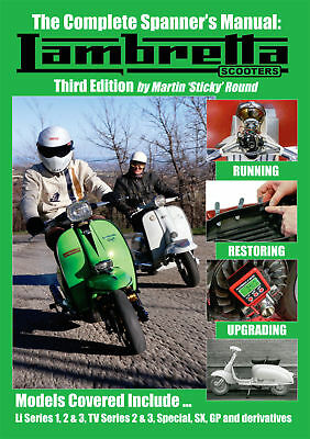 NEW - The Complete Spanner's Manual Lambretta Scooters  - 3rd Edition Sticky