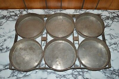 """Vintage EKCO Welded 6-In-1 Round 7"""" Cake Pans Commercial Bakery Pro Baking Pan"""