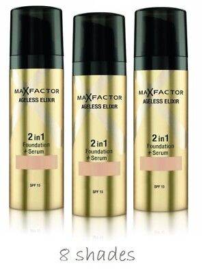 Max Factor Ageless Elixir Foundation & Serum 2in1 - CHOOSE YOUR SHADE