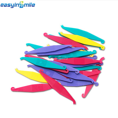 100 Pcs/Pack EASYINSMILE Orthodontic Elastic Placer Elastic Bands-Assorted Color