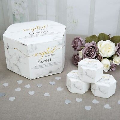 SCRIPTED MARBLE Wedding Throwing Tissue CONFETTI Biodegradable - 21 Boxes