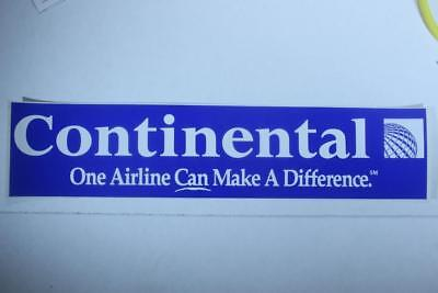"Continental Airlines ""Vintage"" bumper sticker 13.5 X 3 in."