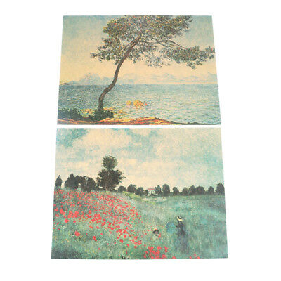 Monet Impressionist Landscape Poster Print Canvas Oil Painting Wall Picture N GT