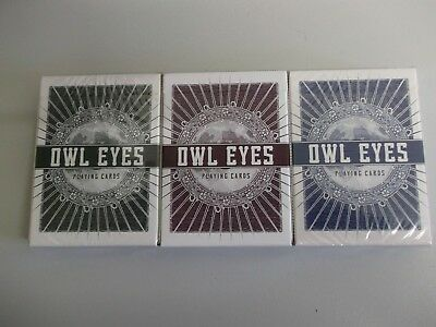 "3 x SUPERB Packs (2 SEALED) ""Bicycle Type - Owl Eyes"" Pack of Playing Cards"