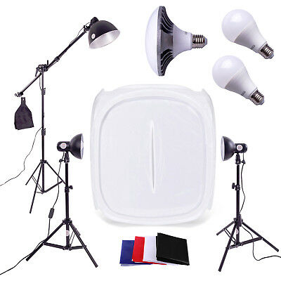 LED Photography Studio 3 Light Tent Kit | 90cm Cube | Continuous Lighting Box