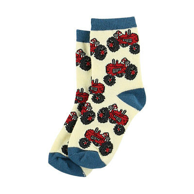 Lazy One Tractor Kids Socks age 2-4, 5-6, 7-9