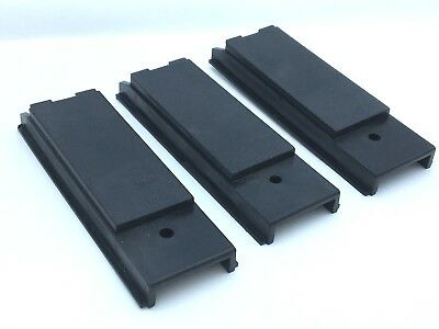 3Pc General Electric GE TEFP1 Filler Blank Cover Plate 1P 1 Pole Black Breaker