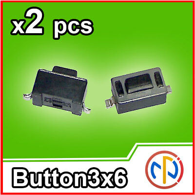 2X Micro pulsante SMD 3x6x4.3 Push tactile Button NA verticale