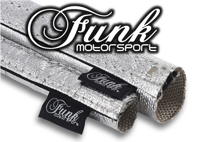 Funk Motorsport Cool Silver Heat easy fit Sleeving 15mm (Dia.) X 0.5m Length