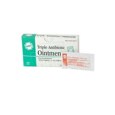 HART Health Box of 10 0.9GM Triple Antibiotic Ointment Packets Healing 6503