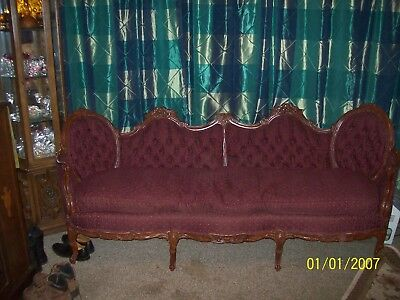 Queen Anne Sofa and Love Seat