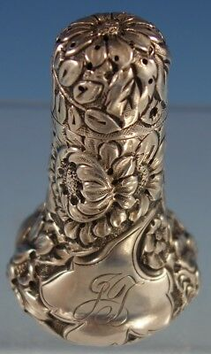 """Repousse by Unknown Sterling Silver Salt Shaker #350 3"""" Tall (#2838) Vintage"""