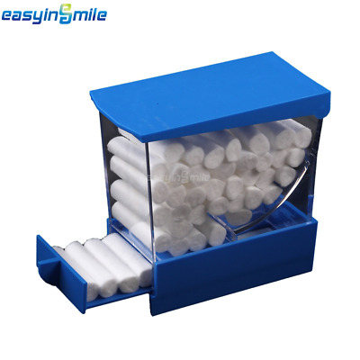 1Pc/Pack Dental Cotton Roll Dispenser holder Press Type Autoclavable see-through
