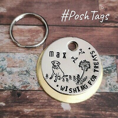 Poop machine dog tag - handmade stamped pet tags dog cat PoshTags