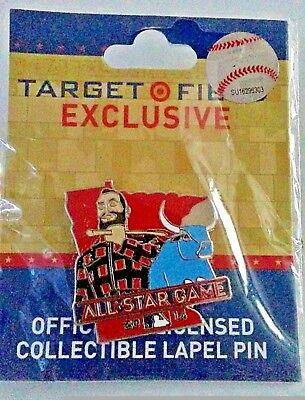 2014 All Star Game Pin Paul Bunyan and Babe the Blue Ox Trading Pin New
