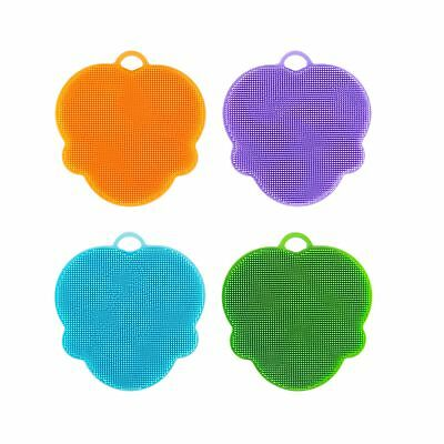 Kichwit Silicone Dish Sponges Scratch Free Silicone Scrubber Antibacterial Sp...