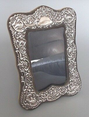 Modern antique style solid silver 8.25'' x 6'' photo frame, RBB, London 1991