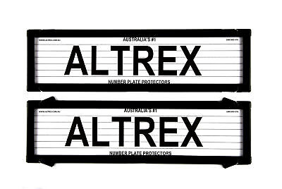Altrex Number Plate Cover 6 Figure Black With Lines Dual Slimline