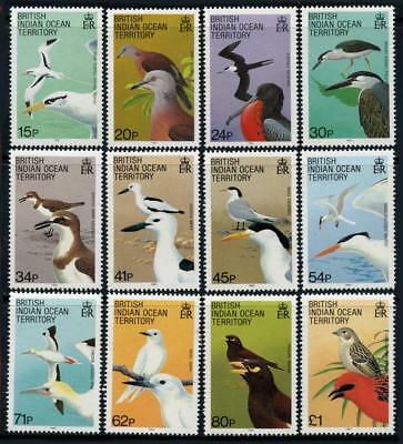 British Indian Ocean Territory: 1990 Birds (94-105) 12-Stamp Set MNH - CV $34.65