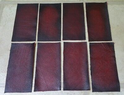 Red Ox Blood 6 offcuts 100% Quality leather 15cm x 7.5cm  Craft Patch Repair
