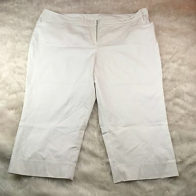 77b53d5be8b Women s Lane Bryant NWOT White Stretch Capri Pants Plus Size 28 Casual