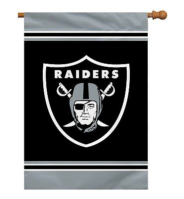 """Oakland Raiders NFL Licensed 28"""" x 40"""" Single Sided Banner / Flag- Free Shipping"""