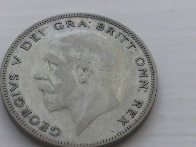 1933 UK HALF CROWN SILVER COIN, George V