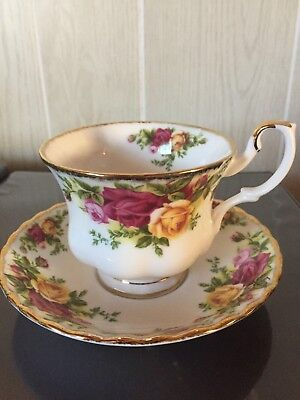 Royal Albert Old Country Roses Coffee Tea Cup Teacup & Saucer 1962 New Mint!
