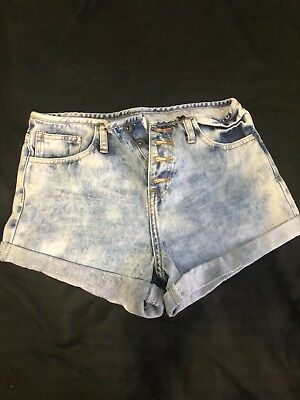 1fcbdaca8d FOREVER 21 PASTEL Colorblock Women's Cuffed Denim Shorts Size 27 ...