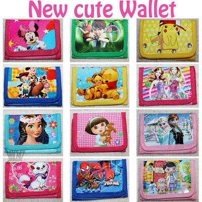 Children Character Wallet Set Girls Boys Kids Party for Gift