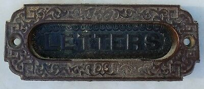 """Antique Letter Slot!  2 1/4"""" X 5 5/8"""" From A Campello Mansion Brockton, Mass"""