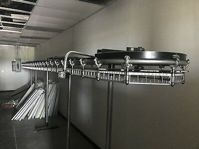 700 Slot Garment Conveyor with motor For Dry Cleaners