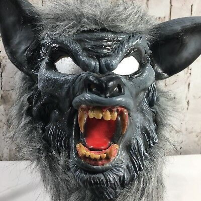 realistic werewolf mask halloween prop adult full face costume big bad wolf