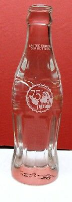 Only 500 Made-2006 Coca-Cola  Crystal Bottle-75Th Anniversary Of Coke Santa