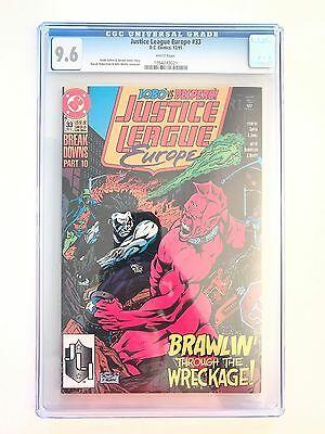 Justice League Europe 33 CGC 9.6 First Sonic the Hedgehog 1991