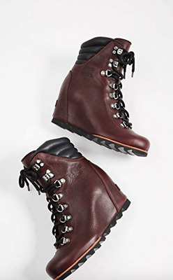 2fc4a1c2dce0 Sorel Conquest Wedge Lux Boots Womens 5 Rich Wine Leather Rain Cold Weather